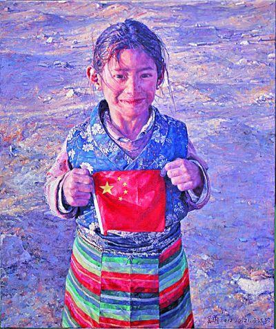 五星红旗 我为你自豪 飘扬在美术作品中的国旗